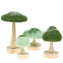 Dekopilz Holz/Filz Grün 8cm - 15cm  4St