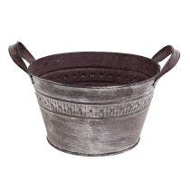 Zinkschale Ø18,5cm H10,5cm Lila gewaschen
