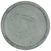 Dekoteller Zinktablett Ø44cm H2,5cm