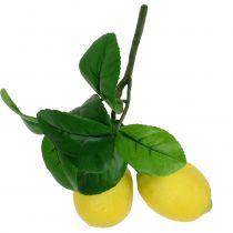 Zitronenzweig mit 2 Zitronen 24cm Gelb