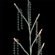 Zweig Weiß mit Perlenkette LED 75cm 2er-Set