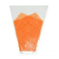 Blumentüte Jute-Muster Orange L40cm B12-30 50St