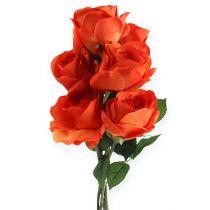 Deko-Rosen Orange 32cm 6St
