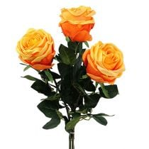 Deko-Rose Orange Ø8cm L68cm 3St