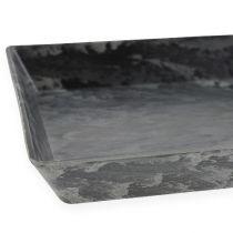 Deko-Tablett Anthrazit 27cm x 12cm