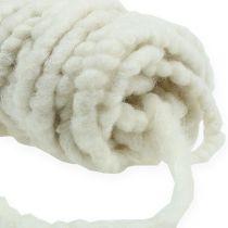 Filzkordel Flausch Mirabell 25m Weiß