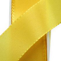Geschenk- und Dekorationsband 25mm x 50m Gelb