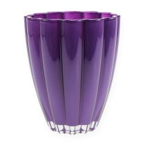 Glasvase Bloom Violett Ø14cm