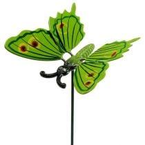 Schmetterlinge am Stab 8cm grün
