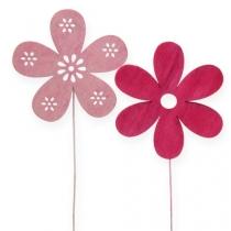 Blumenstecker Blüte Rosa, Pink 8cm 18St.