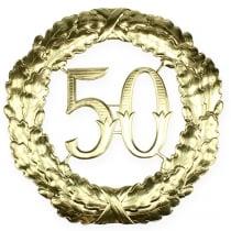 Jubiläumszahl 50 in Gold Ø40cm