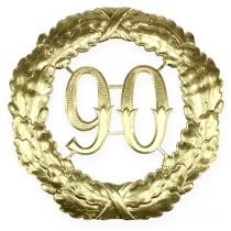 Jubiläumszahl 90 in Gold Ø40cm