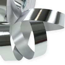 Kräuselband glänzend 19mm 100m Silber