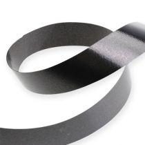Kräuselband Schwarz 19mm 100m