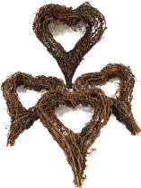 Zweigkranz in Herzform 20x25cm 4St. natur