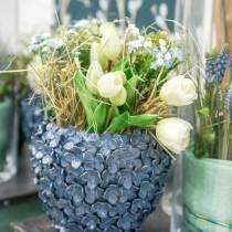 Künstlicher Tulpen-Strauß, Seidenblumen, Tulpen Real Touch Weiß