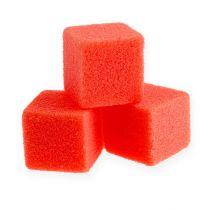Nasssteckschaum Mini-Würfel Rot 300St