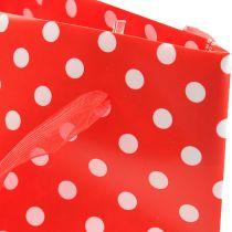 Präsenttasche Rot, Weiß 31cm 5St