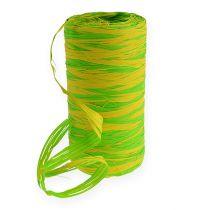 Raffia-Band Bicolor grün 200m
