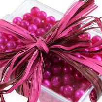 Raffia-Band Bicolor Pink-Braun 200m