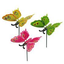 Schmetterlinge am Stab 8cm versch. Farben