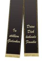 Trauerband bedruckt Schwarz 125mm×75cm