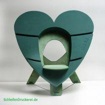 OASIS® Bioline® Deco Urnenherz 65 cm mit Aufsteller