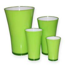 """Plastik Vase """"Fizzy"""" Apfelgrün, 1St"""