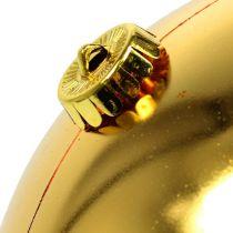 Weihnachtskugel Plastik groß Gold Ø25cm
