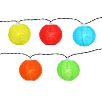 China-Laternen mit 20 LEDs bunt 9,5m