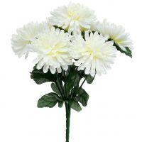 Chrysantheme Weiß mit 7 Blüten