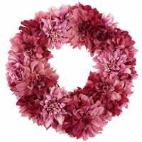 Dahlienblütenkranz Altrosa, Malve Ø42cm