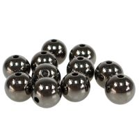 Deko-Perlen Anthrazit Metallic 14mm 35St