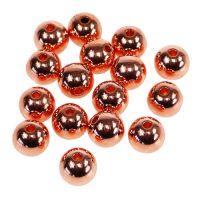 Deko-Perlen Kupfer Metallic 14mm 35St