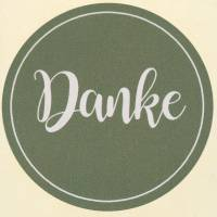 "Etiketten ""Danke"" Grau Ø3,5cm 500St"
