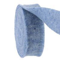 Filzband Blau 7,5cm 5m