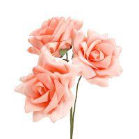 Foam Rose Ø 10cm Lachs 8St