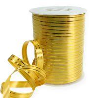 Splittband 2 Goldstreifen auf Gold 10mm 250m