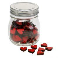 Herzen Rot im Glas 9cm