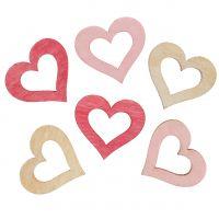 Herz zum Streuen Rosa, Pink, Natur 2cm 144St