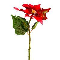 Kunstblumen Weihnachtsstern rot L73cm