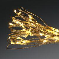 LED-Lichterkette 50er für Batterie 5m warm-weiß