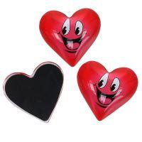 Magnet Herz Smeili Rot 4cm 6St
