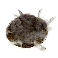 Nest mit Federn 15cm Natur 4St