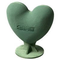 OASIS® Steckschaum Herz Mini 3-D 20cm x 18,5cm x 8,2cm