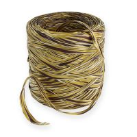Raffia-Band Multicolor Gold-Braun 200m