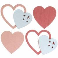 Streudeko Herzen Rosa/Weiß 24St