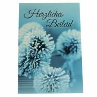 """Trauerkarte """"Herzliches Beileid"""" mit Umschlag 1St"""