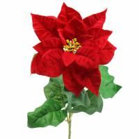 Weihnachtsstern Kunstblume Rot 67cm