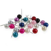 Perlkopfnadeln Ø10mm 60mm verschiedene Farben